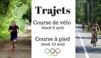 Olympiades 2017 – Trajets