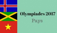 Olympiades 2017 – Les pays