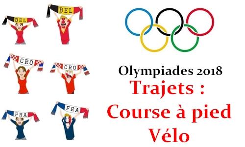 Olympiades 2018 – Trajets